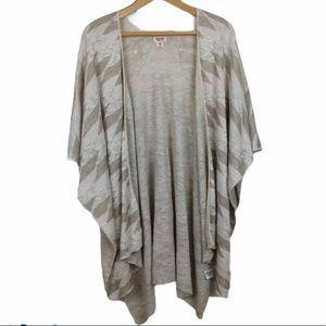Mossimo Sweater Kimono Boho Flowy Open Front S M
